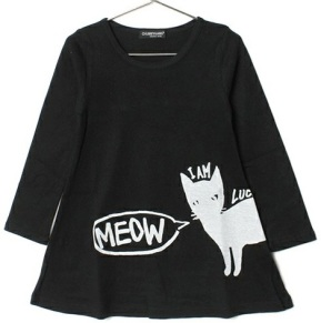 MEOW DRESS BLK