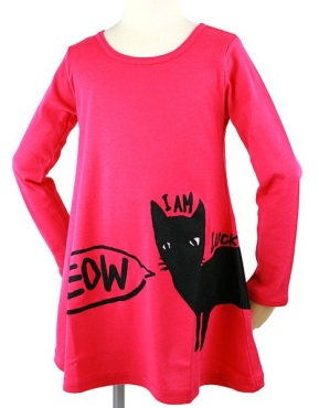 MEOW DRESS PINK FRONT