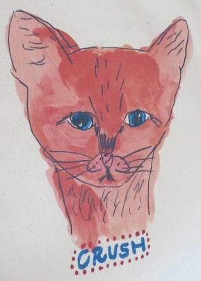 Crush cat tote bag-detail