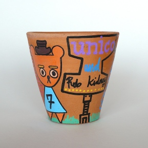 Rob Kidney X unico- hand painted pots