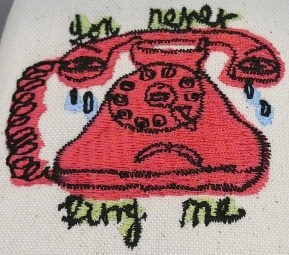 you never ring me slippers-detail