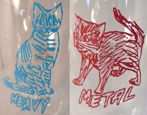 Heavy Metal 'double wall' glass