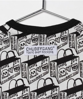 ROB KIDNEY X CHUBBYGANG 'SHOPPING BAG' ROMPERS