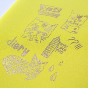 Rob Kidney / 2016 DIARY yellow,front