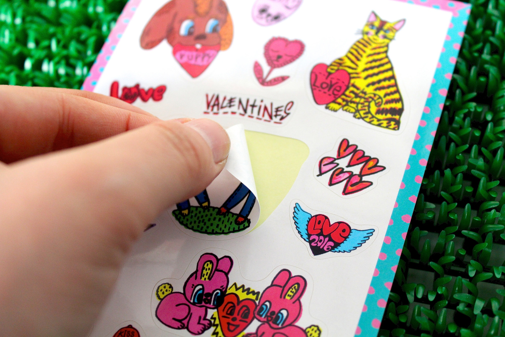 Rob Kidney Valentine's day sticker sheet 2016