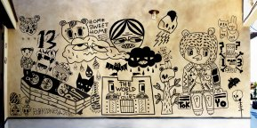 Rob Kidney-WISH LESS studio mural commission
